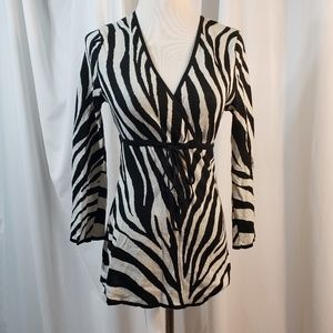 Michael Michael Kor XS black white zebra lightweig